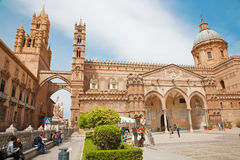 Palermo - South portal of Cathedral or Duomo Royalty Free Stock Photography