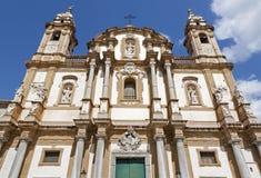 Palermo - St Dominic barockkyrka Arkivfoton