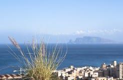 Palermo, stad op de kust Stock Afbeeldingen