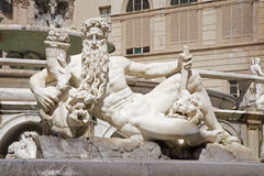 Palermo - Statue of god from Florentine fountain Royalty Free Stock Photography