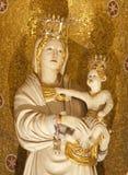 Palermo - Statue of Madonna with child from church Convento Dei Carmelitani Scalzi Stock Image