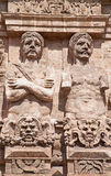 Palermo - Statues from Porta Nuova medieval gate Stock Images