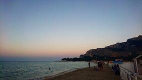 Palermo stränder fotografering för bildbyråer