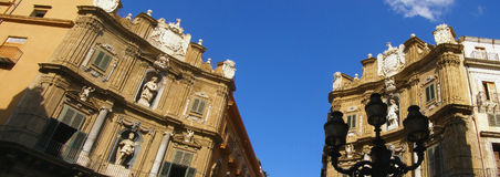 Palermo street panorama, Sicily - Italy Stock Photography