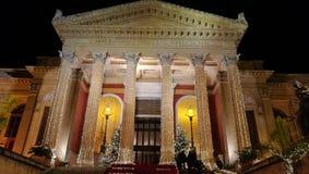 Palermo teater Royaltyfria Foton