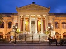 Palermo - Teatro Máximo Imagen de archivo