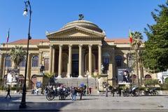 Palermo, teatro Massimo Stock Photos
