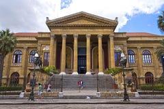 Palermo, teatro Massimo Stock Photography