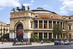 Palermo, Teatro Politeama Royalty Free Stock Photography