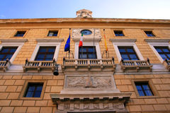 Palermo town hall building facade; Sicily Royalty Free Stock Photo