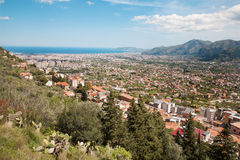Palermo  -  town from Monreale Royalty Free Stock Image