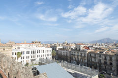 Palermo-Vogelperspektive Stockbild