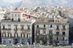 Palermo-Vogelperspektive Lizenzfreies Stockbild