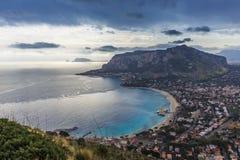Palermo, Włochy seascape Obraz Royalty Free