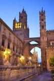 Palermo - Westtürme der Kathedrale oder des Duomo Stockfoto