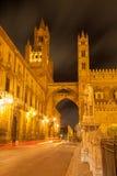 Palermo - Westtürme der Kathedrale oder des Duomo Stockbild