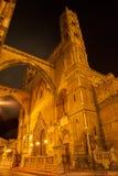 Palermo - Westtürme und Portal der Kathedrale Stockbilder