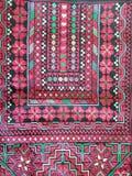 Palestijns geometrisch borduurwerk - rood Stock Afbeeldingen