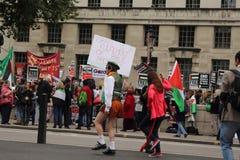 Palestijns protest in Londen, Engeland Stock Afbeelding