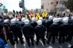 Palestijnse relpolitie stock fotografie