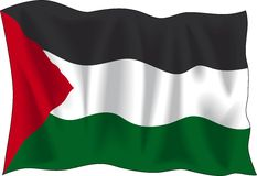 Palestijnse vlag Royalty-vrije Stock Afbeeldingen