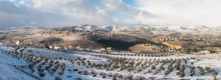 Palestina in de winter Stock Foto's