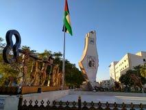 Palestina flagga Arkivbild