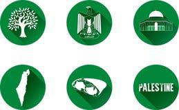Palestina IconSet plano Fotografía de archivo