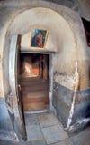 Palestina, igreja interior da natividade em Bethlehem imagens de stock