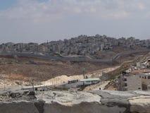 Palestina/Israel vägg av uppdelning Royaltyfri Fotografi