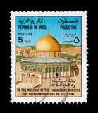 Palestina martelt postzegel royalty-vrije stock afbeelding