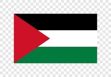Palestina - nationsflagga royaltyfri illustrationer
