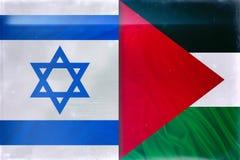 Palestina och Israel flaggor arkivbild