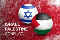 Palestina och Israel flaggor i form av en boll vektor illustrationer
