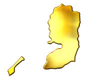 Palestine 3d Golden Map Stock Photography