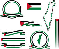 Palestine Banner Set Stock Images