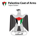 Palestine Coat of Arms. The Palestinian coat of arms or eagle of saladin Royalty Free Stock Photography