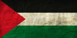 Palestine Flag on Paper. Flag on an old Paper Texture Royalty Free Stock Image