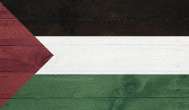 Palestine flag on wood boards with nails Royalty Free Stock Photo