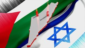 Palestine Israel conflict concept animation. Palestine Israel conflict concept animation, Computer generated stock video footage