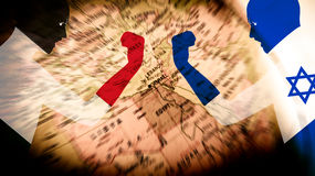 Palestine and Israel Conflict War Stock Photos