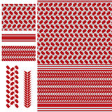 Palestine Keffieh red white seamless pattern Royalty Free Stock Photography