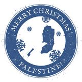 Palestine map. Vintage Merry Christmas Palestine. Palestine map. Vintage Merry Christmas Palestine Stamp. Stylised rubber stamp with county map and Merry Royalty Free Stock Photos