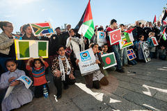 Palestine UN bid celebration Royalty Free Stock Images
