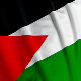 Palestinean Flag Closeup royalty free stock photography