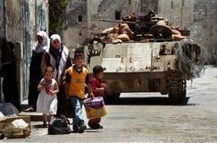 Palestinesi nell'ambito dell'occupazione Fotografie Stock Libere da Diritti