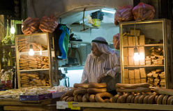 Palestinian bread seller Royalty Free Stock Image