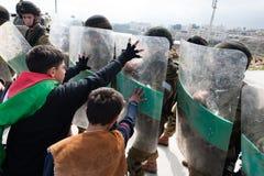 Palestinian demonstration Royalty Free Stock Photo