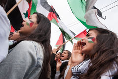 Palestinian demonstration Stock Image