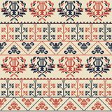 Palestinian embroidery pattern stock photos